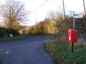 Christmas lane post box